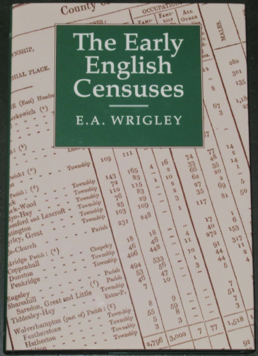 The Early English Censuses, by E.A. Wrigley